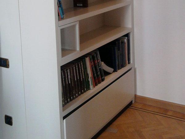 Woonkamer Met Bibliotheek : Realisaties category woonkamer image bibliotheek kast